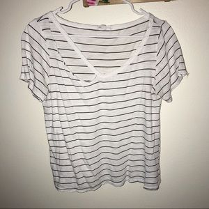 Distressed, striped tee shirt